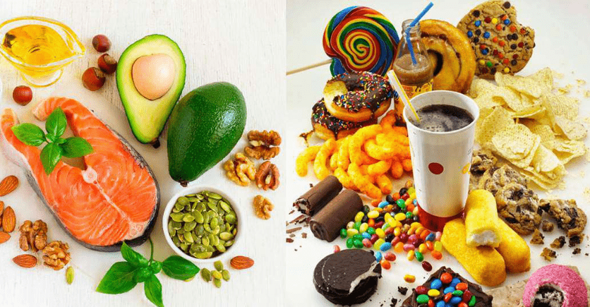 grasas saludables y no saludables