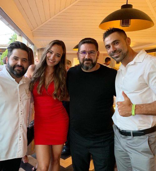 Con Juanlu y Dani Garcia (Estrellas Michelín)