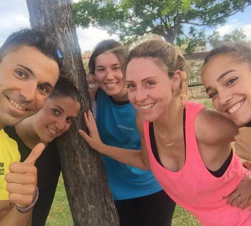 Con Noelia, Carol y Rocio