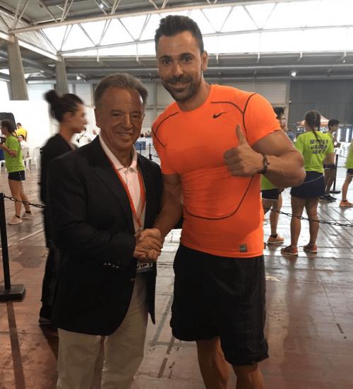 Con Rafael Santonja (Presidente IFBB)