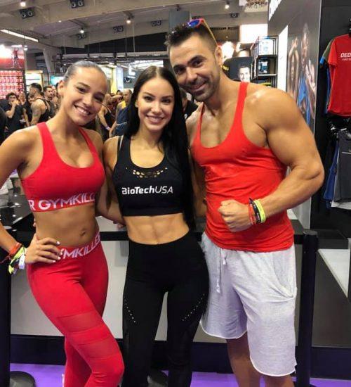 Con Stephanie Davids  (Fitness Model)