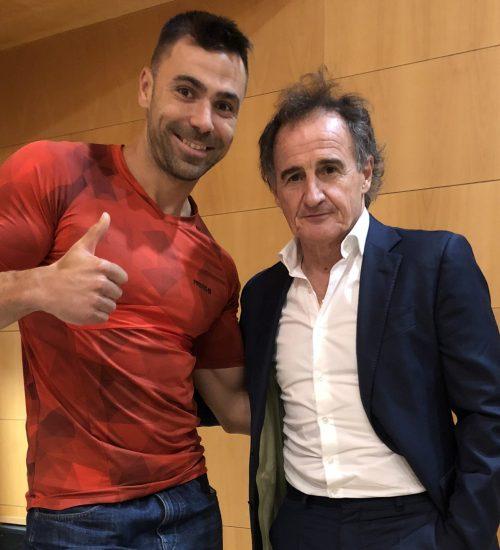 """Con """"El Profe Ortega"""" (Preparador Físico del Atlético de Madrid)"""