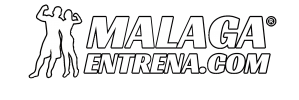 logo blanco bordeado malagaentrena-com -2020 app -min